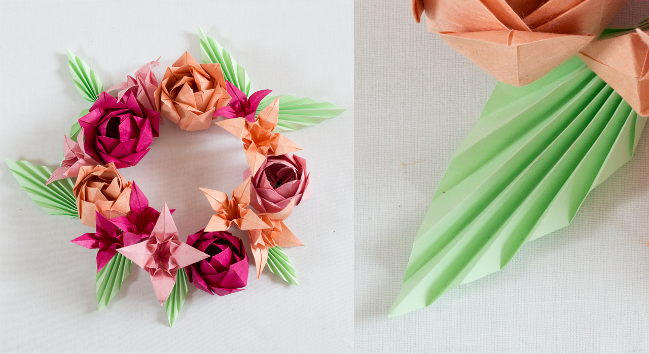 Origami : Toutes Nos Idées Créatives - Femme Actuelle destiné Origami Rose Facile A Faire