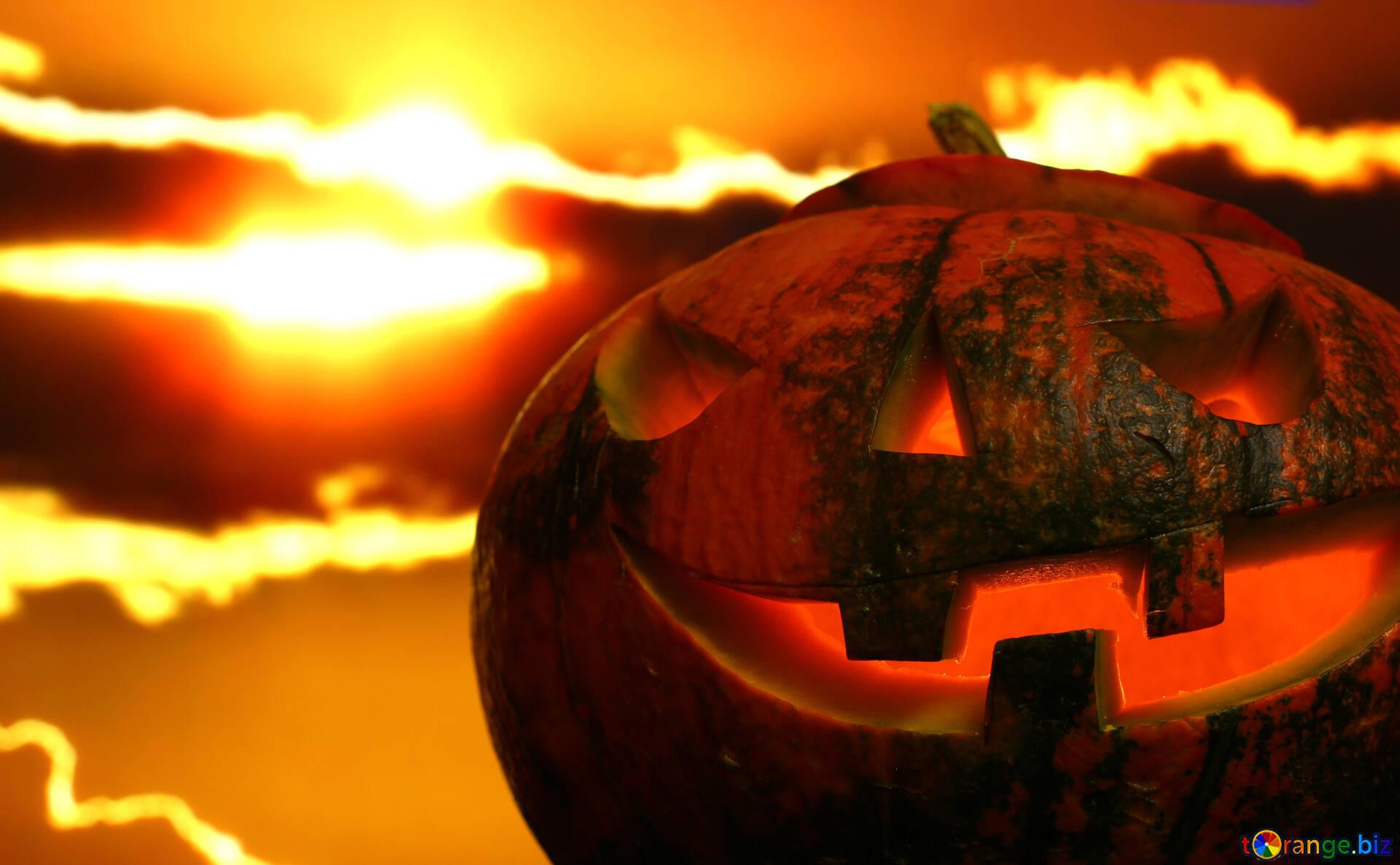 Origines D'halloween Citrouille D'halloween Sur Un Coucher concernant Photo De Citrouille D Halloween