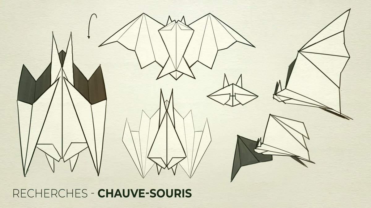 "Otterways On Twitter: ""we Need Your Opinion About encequiconcerne Origami Chauve Souris"