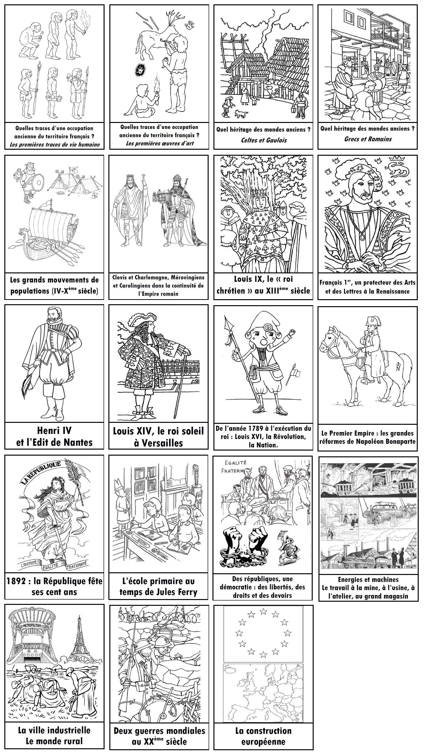 Outils Pour Enseigner L'histoire En Cm : Frise intérieur Frise Chronologique Vierge Ce1