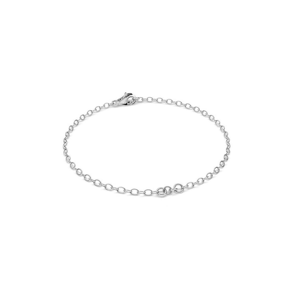 Ovale Gliederkette Armband Für Zwischenteil 15 Cm Aus 925 Silber X1 avec Origami Petit Bateau