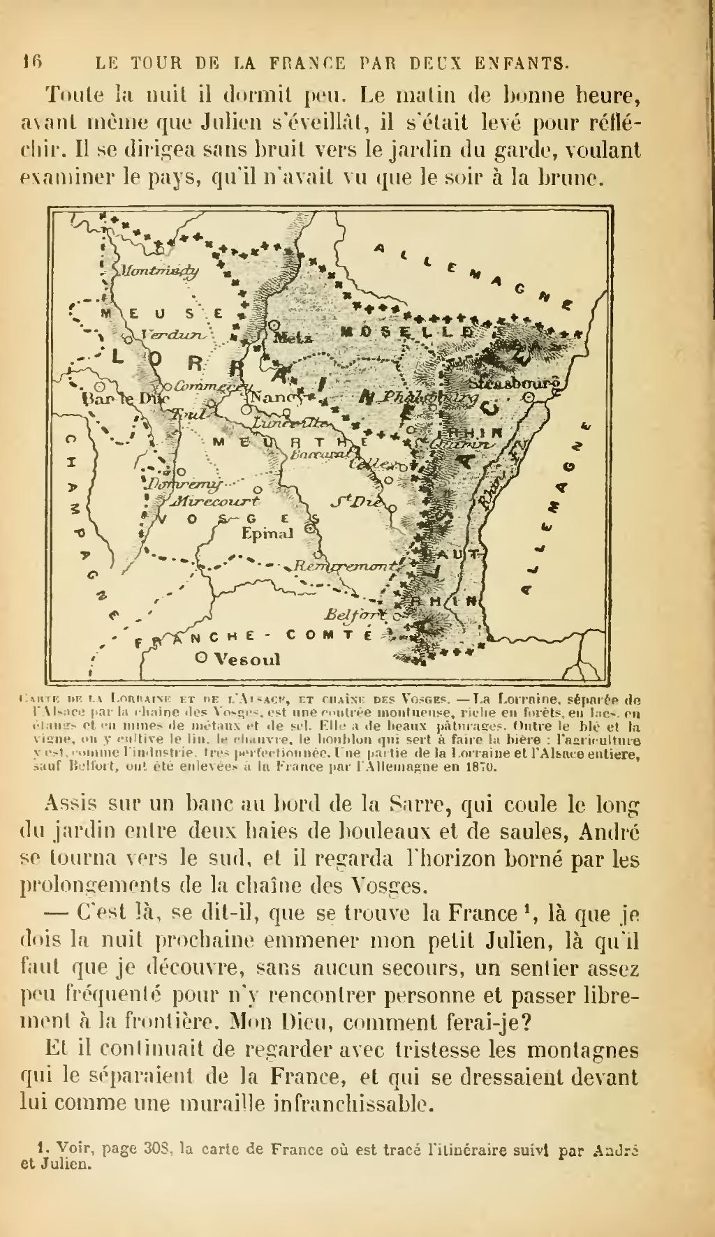 Page:g. Bruno - Le Tour De La France Par Deux Enfants, 1904 intérieur Carte De France Pour Les Enfants