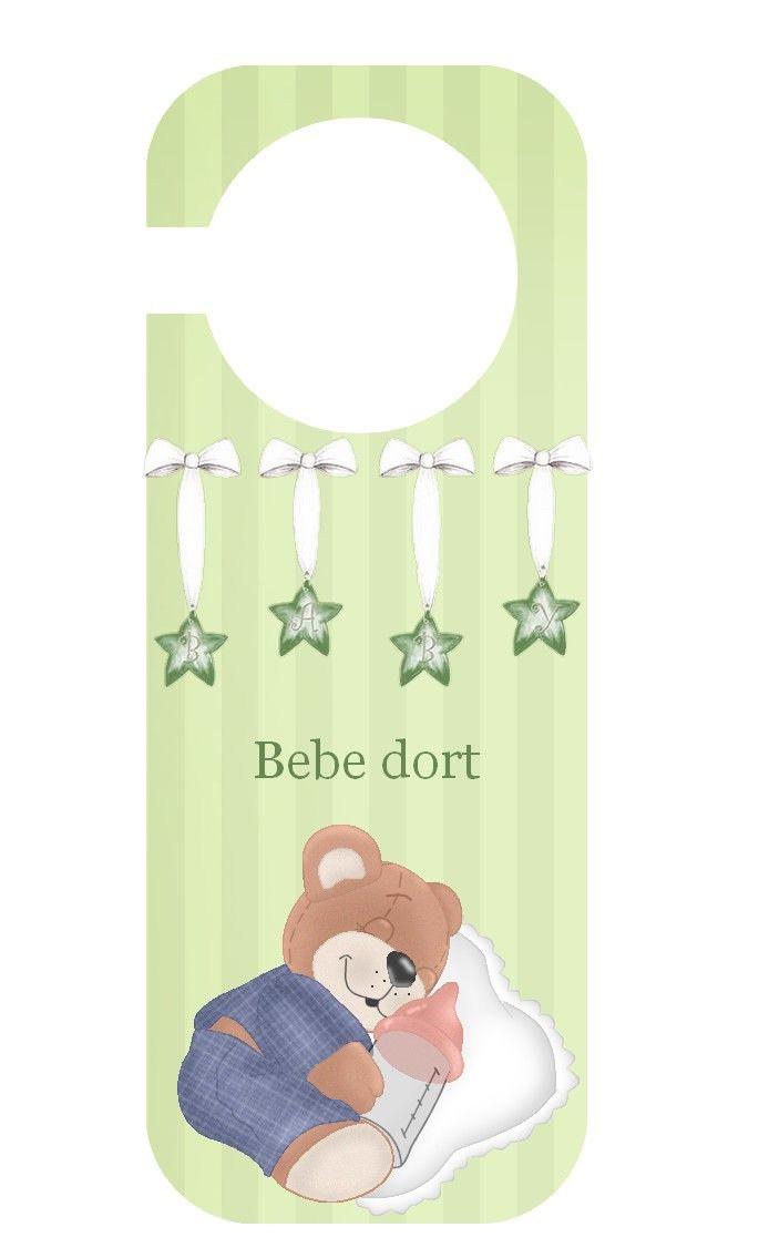 Pancarte-De-Porte A Imprimer | Pancarte, Chut Bébé Dort Et serapportantà Image Chut Bébé Dort