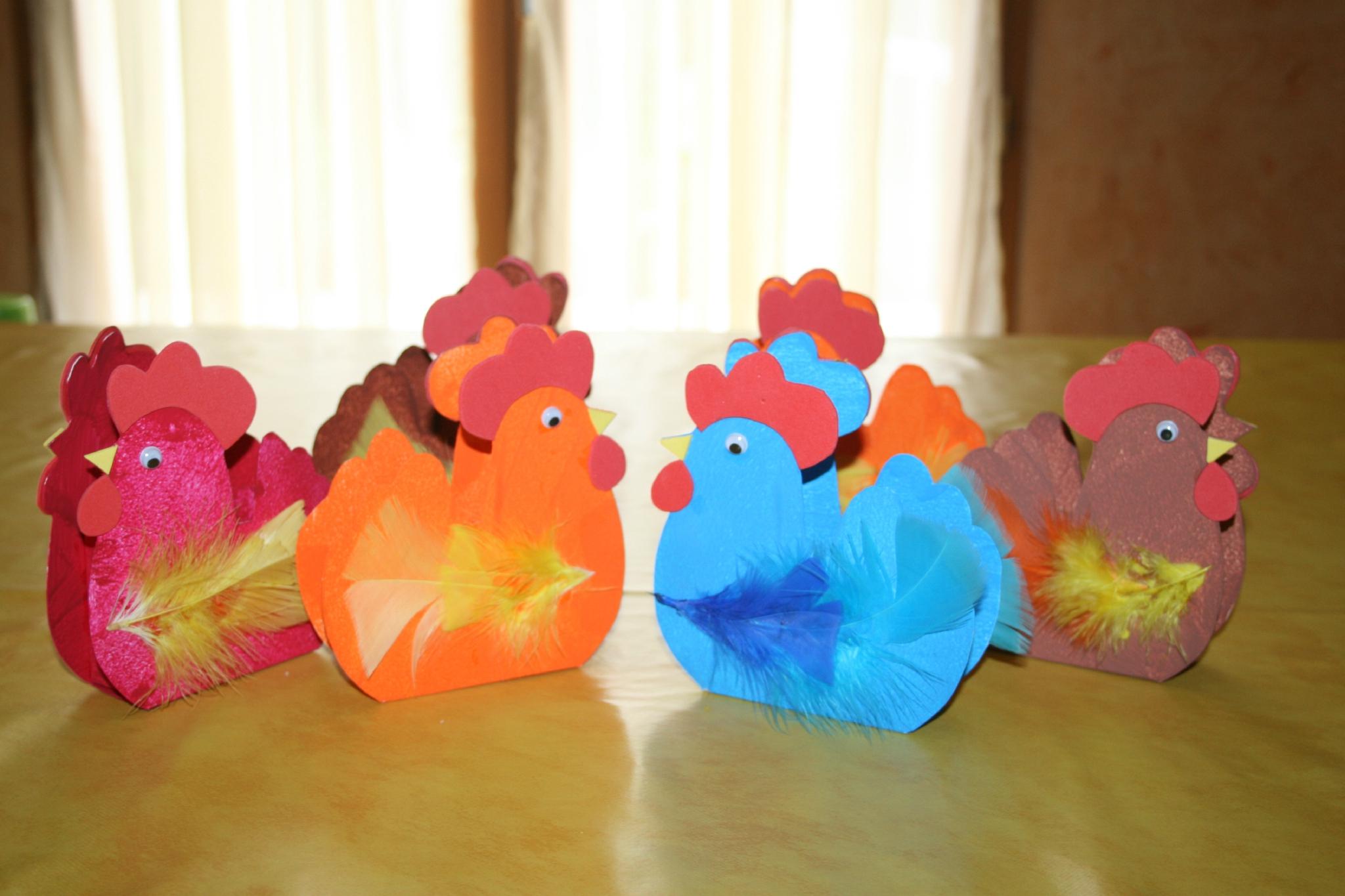 Paniers De Pâques En Forme De Poule - Les Lutins Créatifs intérieur Bricolage Pour Paques Maternelle