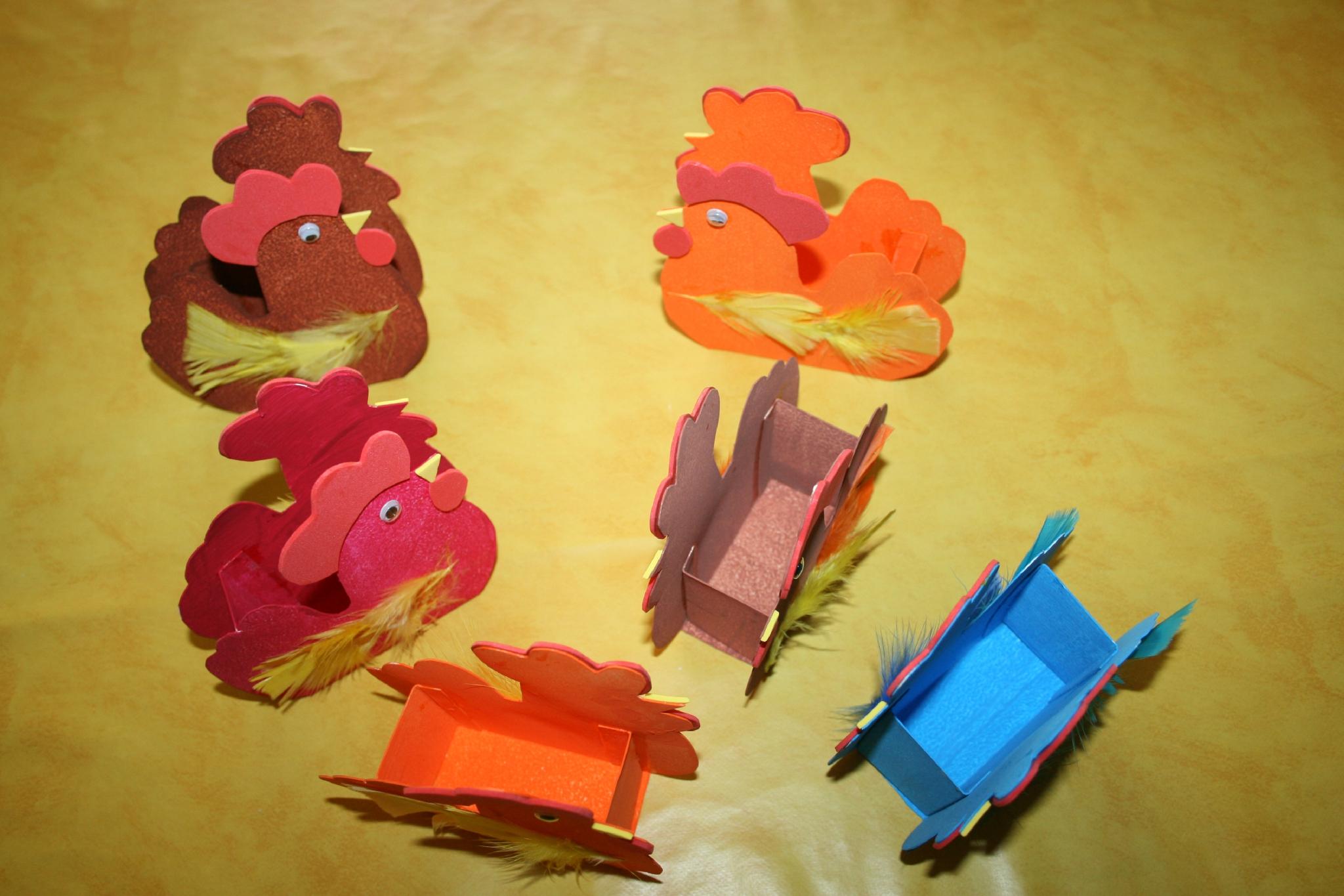 Paniers De Pâques En Forme De Poule - Les Lutins Créatifs tout Bricolage Pour Paques Maternelle