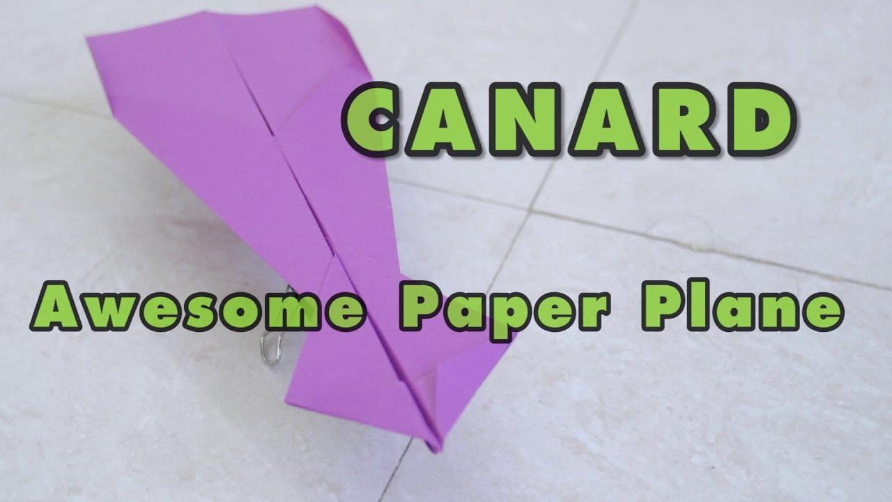 Paper Airplane Super Canard Origami Paper Plane Canard - Tutorial avec Origami Canard