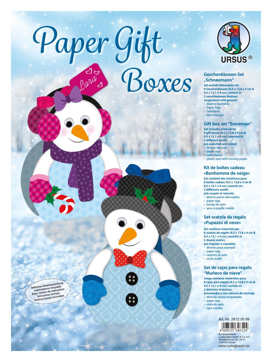 """Paper Gift Boxes """"Schneemann"""" encequiconcerne Origami Bonhomme De Neige"""
