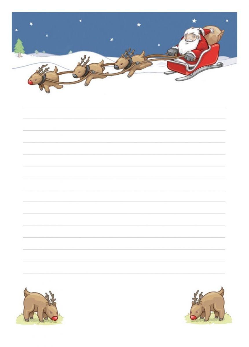 Papier À Lettre Noël À Imprimer À La Maison Librement avec Reponse Lettre Du Pere Noel A Imprimer