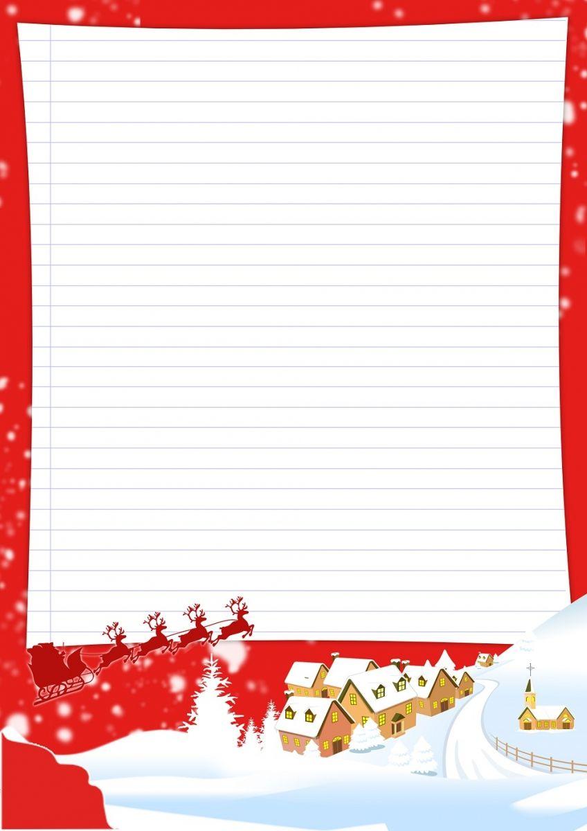 Papier À Lettre Noël À Imprimer Soi-Même | Lettre De Noel dedans Liste Pere Noel Imprimer