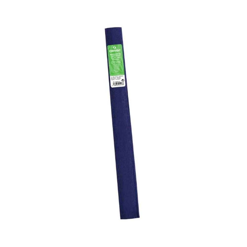 Papier Crepon En Rouleau - 2.5 M X 0.5 M - Bleu Marine serapportantà Realisation Papier Crepon