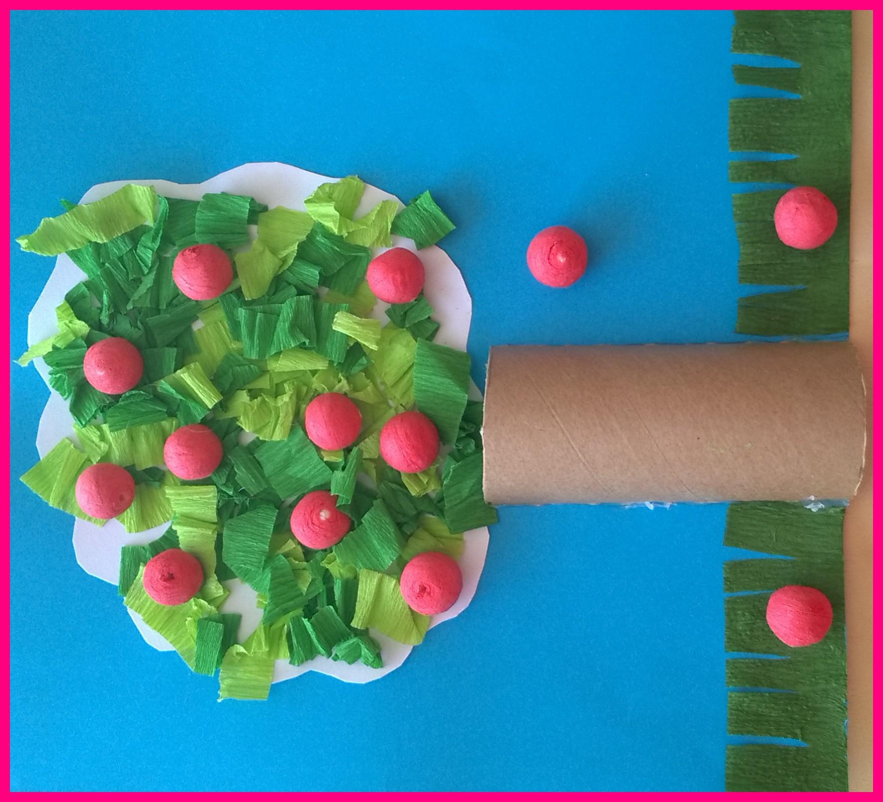 Papier Crépon Vert | Assistante Maternelle Agréée À dedans Realisation Papier Crepon