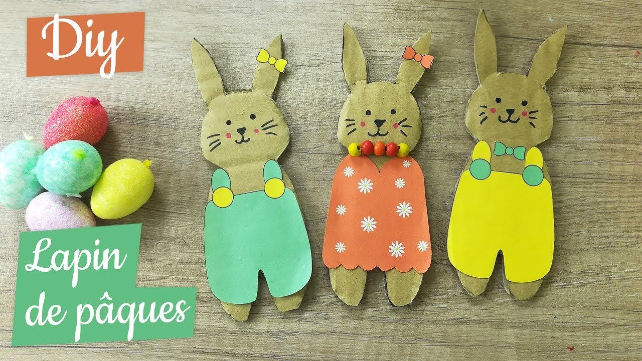 Pâques : 2 Activités Manuelles Faciles En Carton destiné Bricolage Pour Paques Maternelle