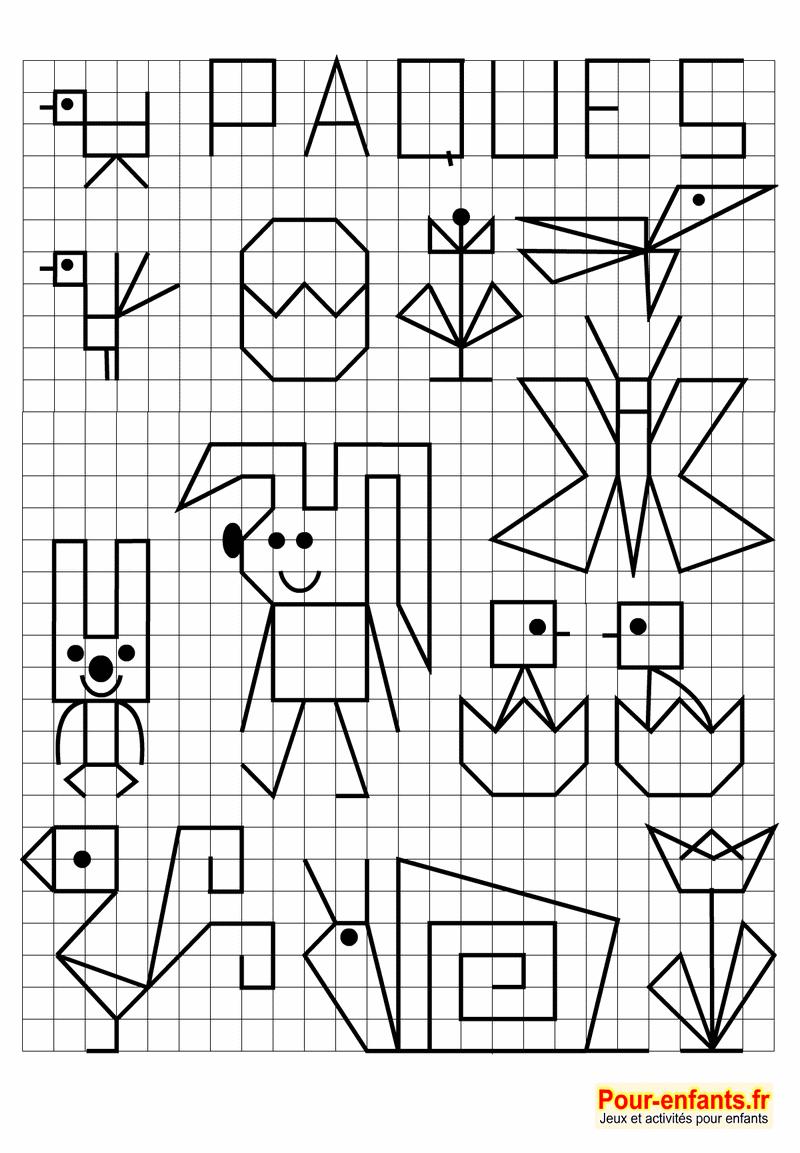 Pâques Jeux À Imprimer Maternelle Quadrillage Activités pour Jeux De Maternelle À Imprimer