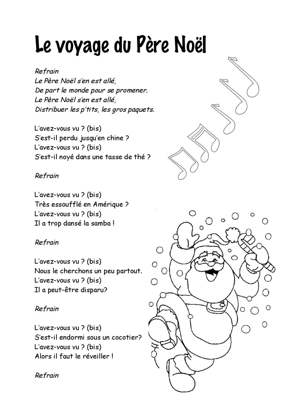 Paroles Chansons De Noël | Bdrp | Chanson De Noel, Chanson dedans Chanson De Noel En Chinois