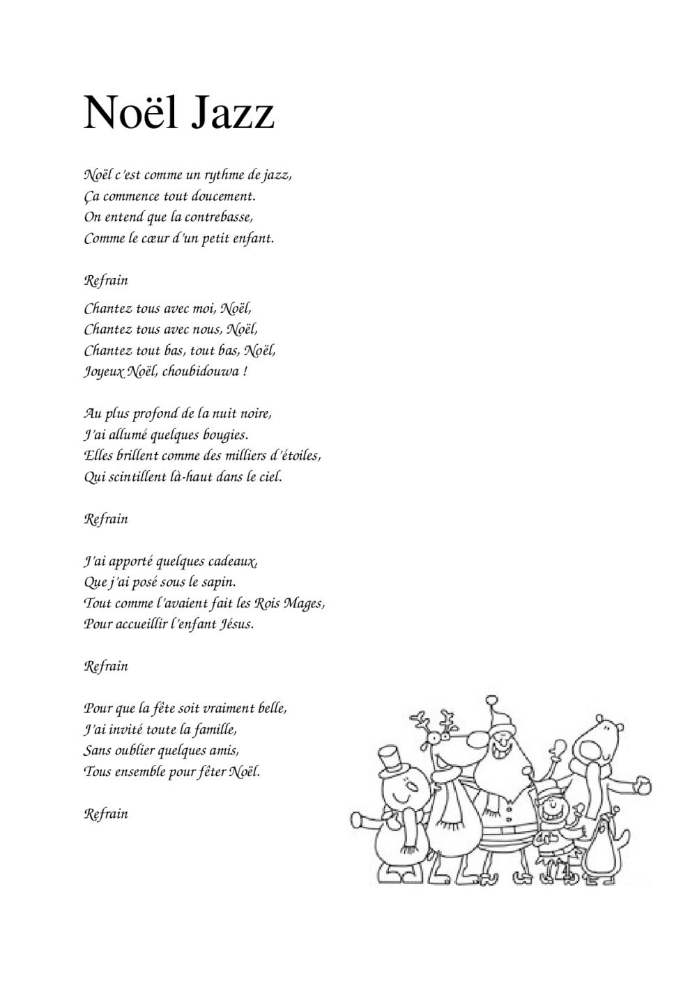 Paroles Chansons De Noël | Bdrp | Chanson De Noel destiné Dans La Nuit De L Hiver Chanson