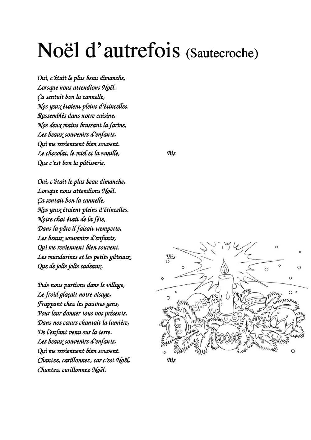 Paroles Chansons De Noël | Bdrp tout Dans La Nuit De L Hiver Chanson