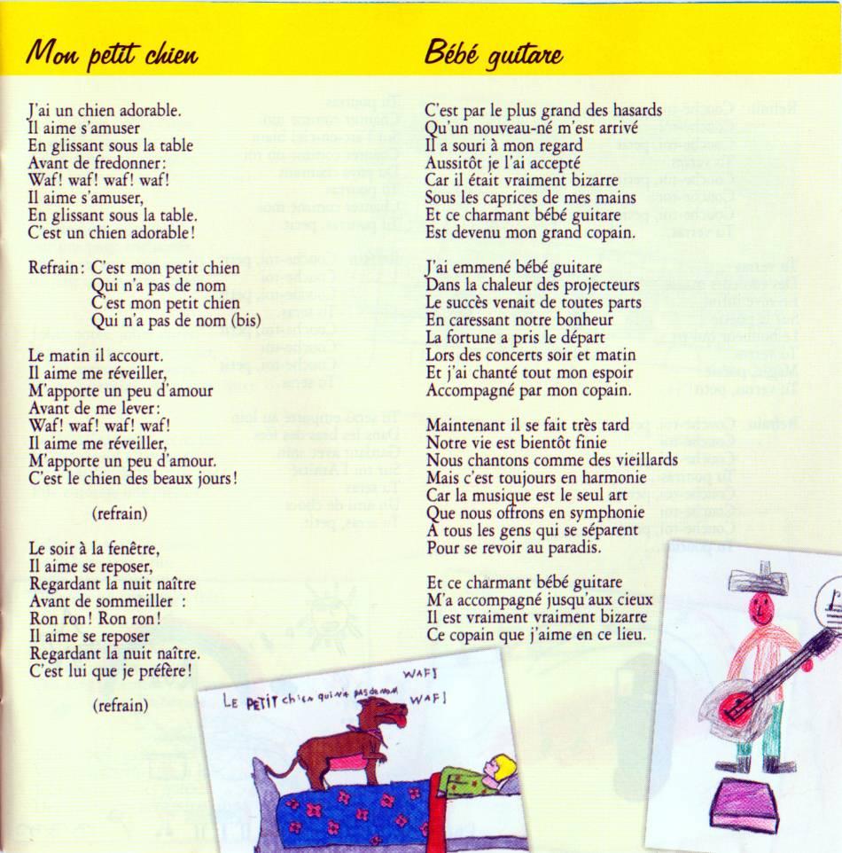 Paroles: Chansons Pour Les Enfants - 1 - Didier Jans intérieur Chanson Pour Les Animaux