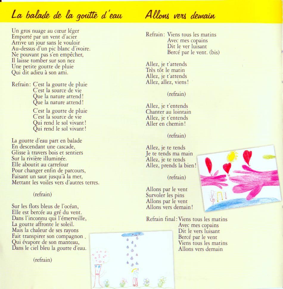 Paroles: Chansons Pour Les Enfants - 1 - Didier Jans pour Le Vent Dans Les Voiles Chanson