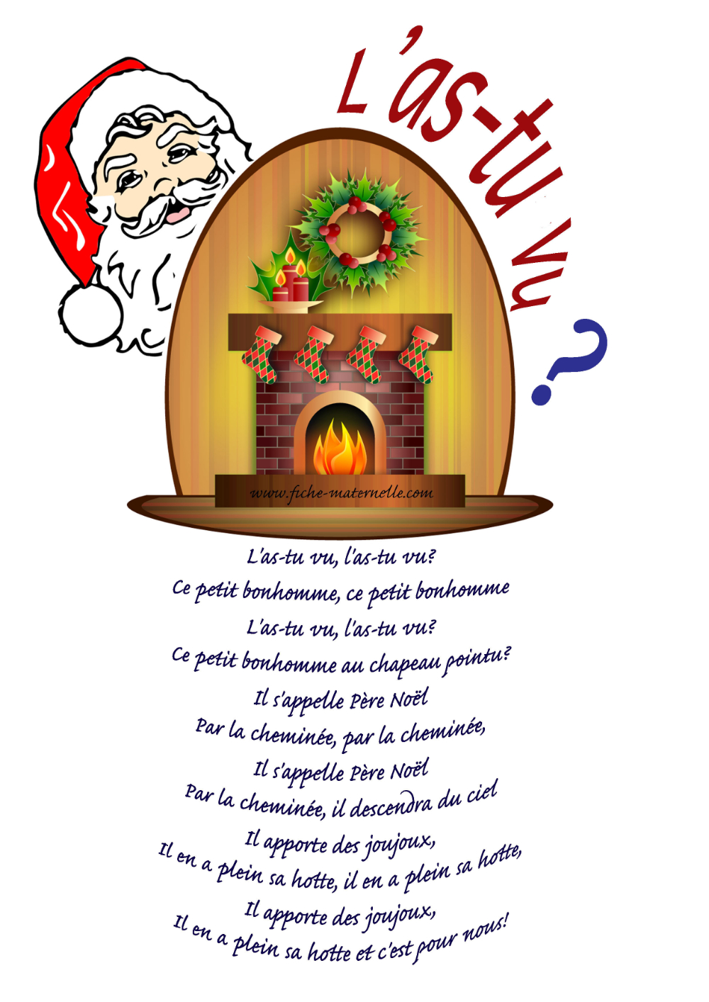 "Paroles De La Chanson De Noël ""l'as-Tu Vu"" En 2020 