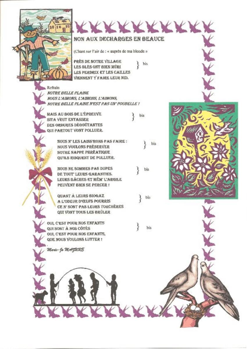 Paroles D'une Chanson Sur Le Projet De Décharge, 2004 destiné Chanson Pour Les Animaux