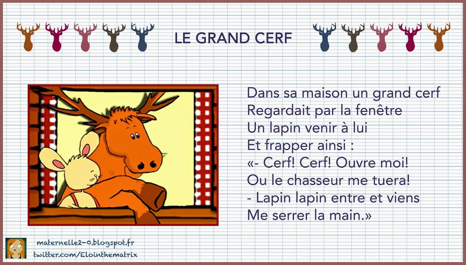 Paroles - Le Grand Cerf tout Chanson Du Cerf Et Du Lapin