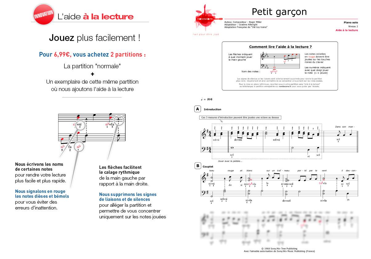 Partition Piano Petit Garçon (Chanson De Noël) | Partitions concernant Chanson Dans Son Manteau Rouge Et Blanc