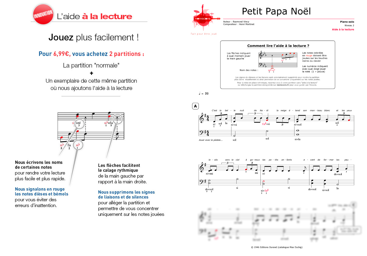 Partition Piano Petit Papa Noël (Chanson De Noël destiné Chanson De Noel Ecrite