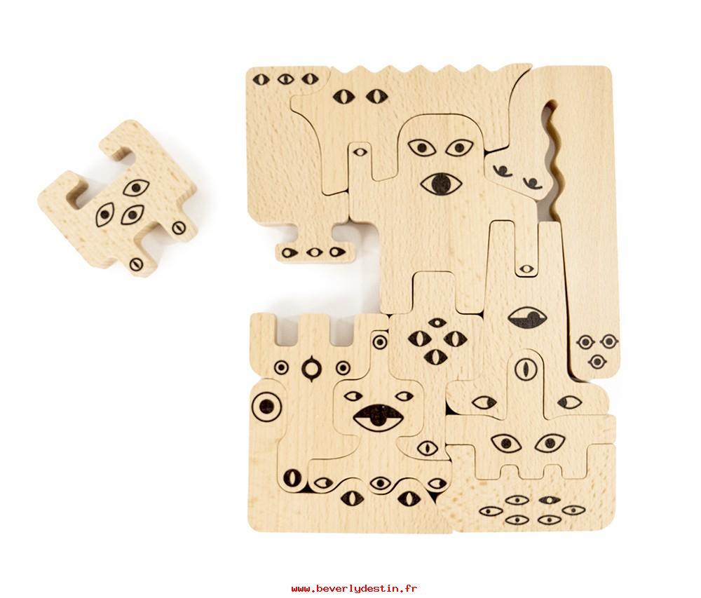 Pas Cher En Ligne Bajo Enfants Puzzle En Bois Monstres dedans Puzzle En Ligne Enfant