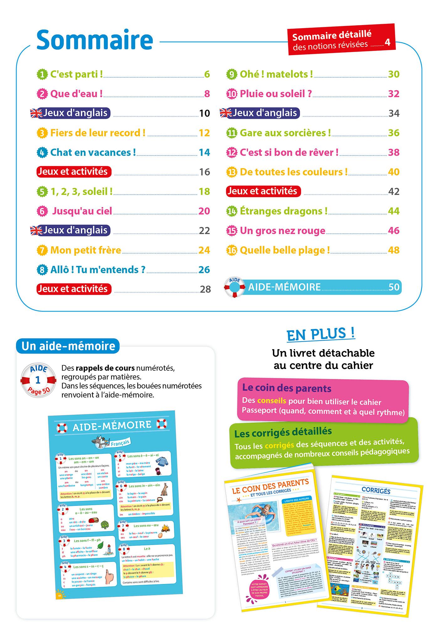 Passeport Cahier De Vacances - Toutes Les Matières Du Cp Au Ce1 - 6/7 Ans pour Jeux En Anglais Gratuit