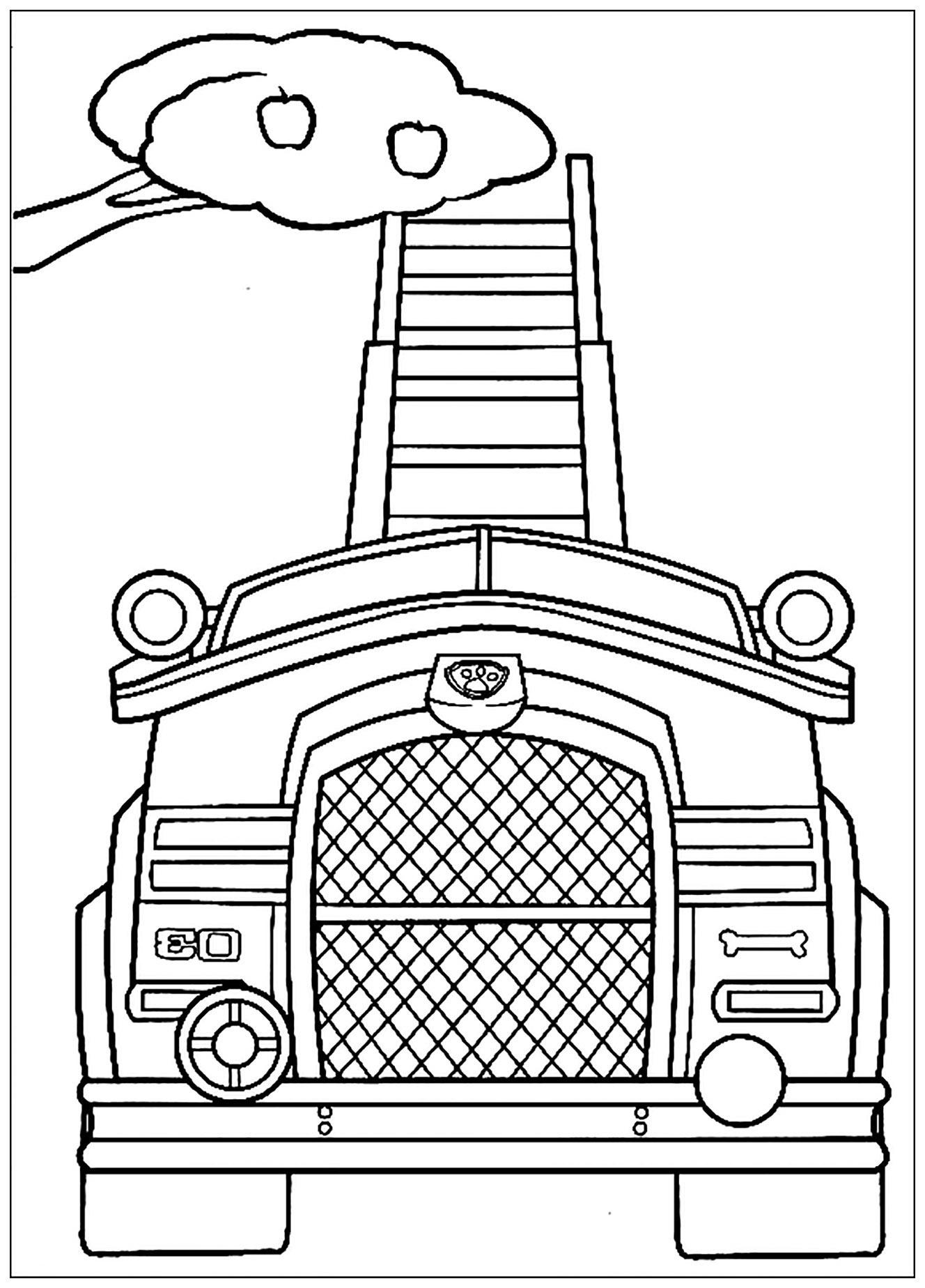 Pat Patrouille : Véhicule De Récolte - Coloriage Pat avec Coloriage Vehicule