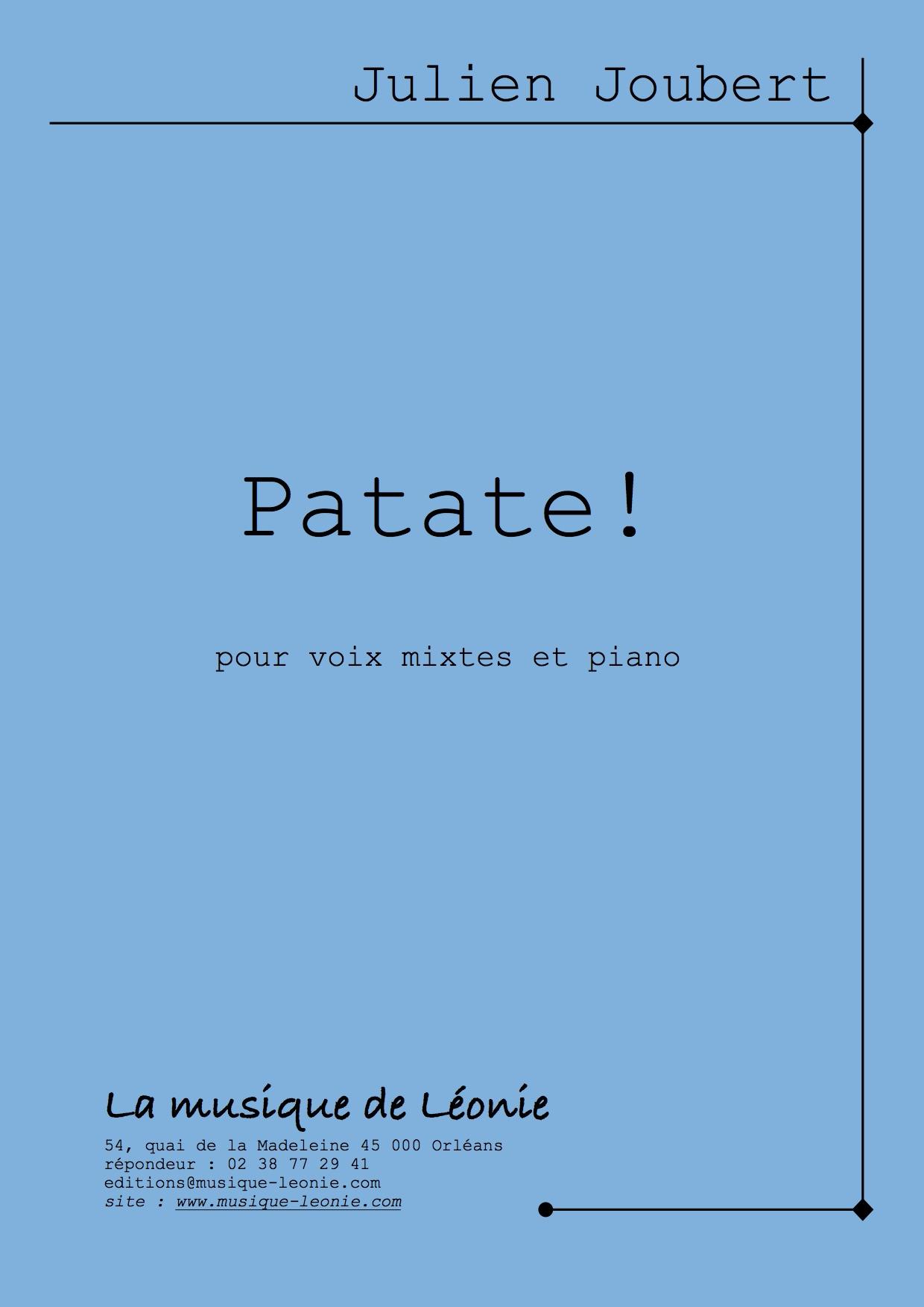 Patate ! destiné Chanson De La Patate