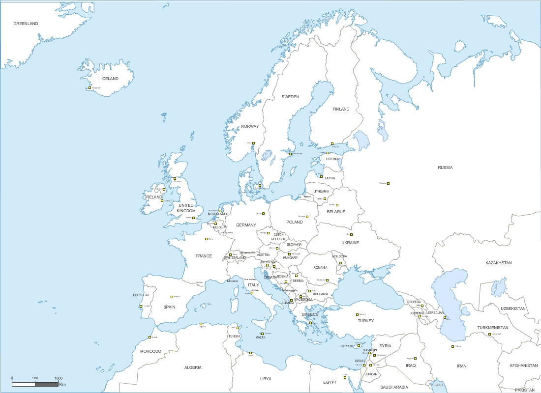 Pays D' Europe Avec Capitales concernant Carte Europe Capitale