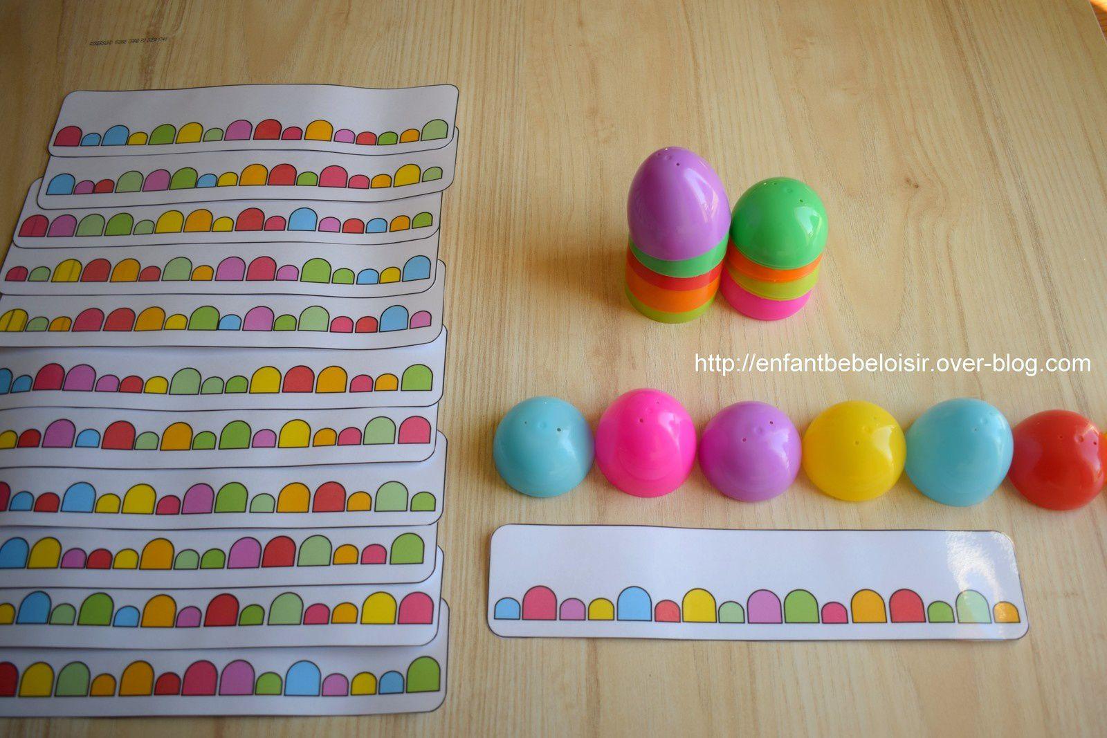 Pdf À Imprimer - Jeu De Couleurs Avec Des Œufs De Pâques à Jeux De Maternelle À Imprimer