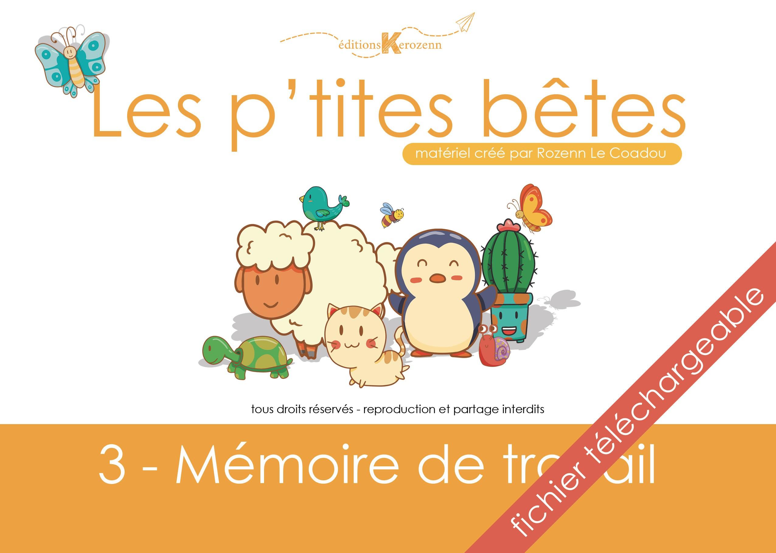 Pdf Les P'tites Bêtes - Mémoire - Kerozenn dedans Jeux De Mémoire Visuelle À Imprimer
