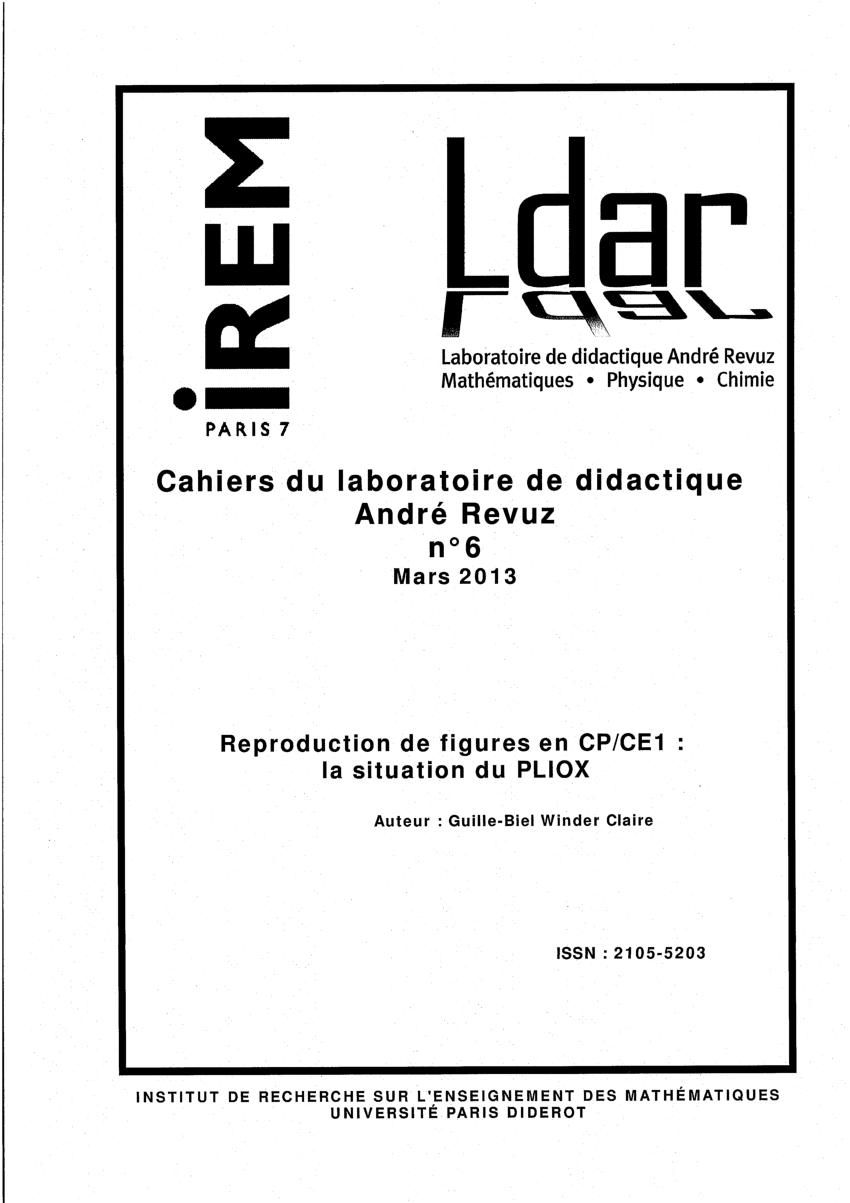 Pdf) Reproduction De Figures En Cp/ce1 : La Situation Du dedans Figures Géométriques Ce1