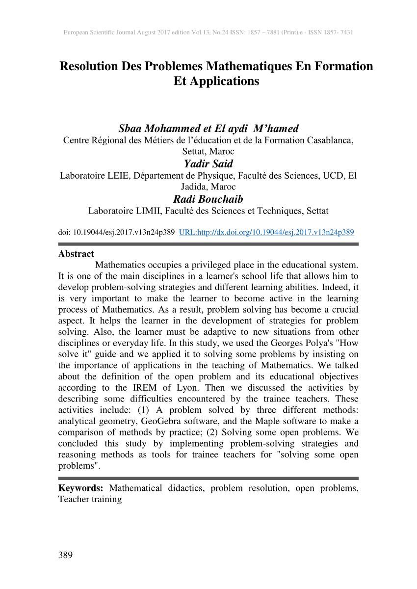 Pdf) Resolution Des Problemes Mathematiques En Formation Et avec Nombres Pairs Et Impairs Ce2