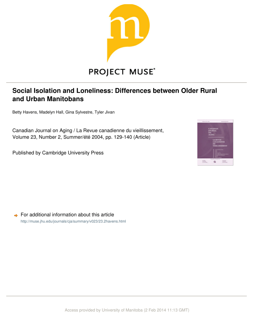 Pdf) Social Isolation And Loneliness: Differences Between pour A 7 Ans Anne Sylvestre