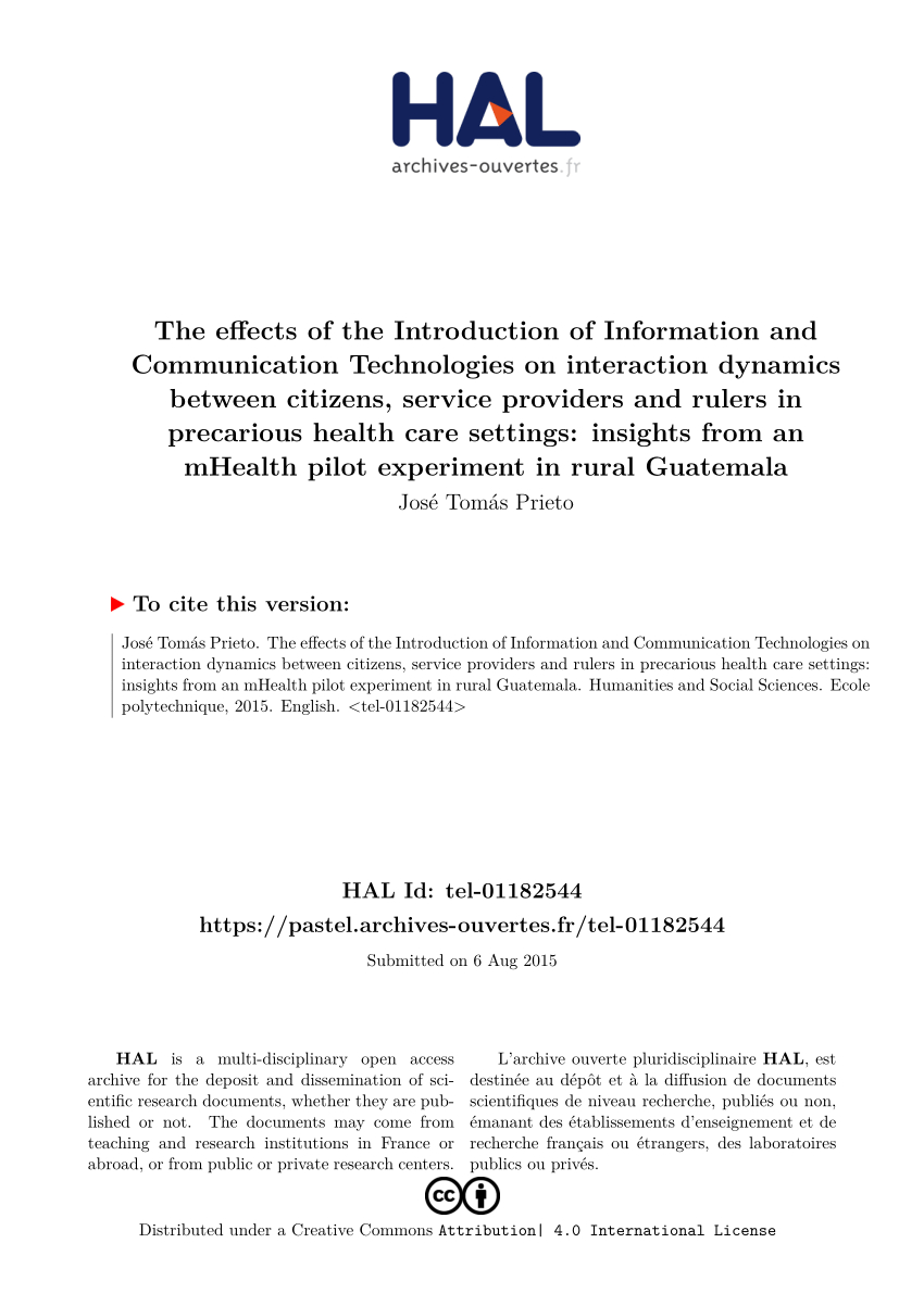 Pdf) The Effects Of The Introduction Of Rmation And destiné Police Script Ecole
