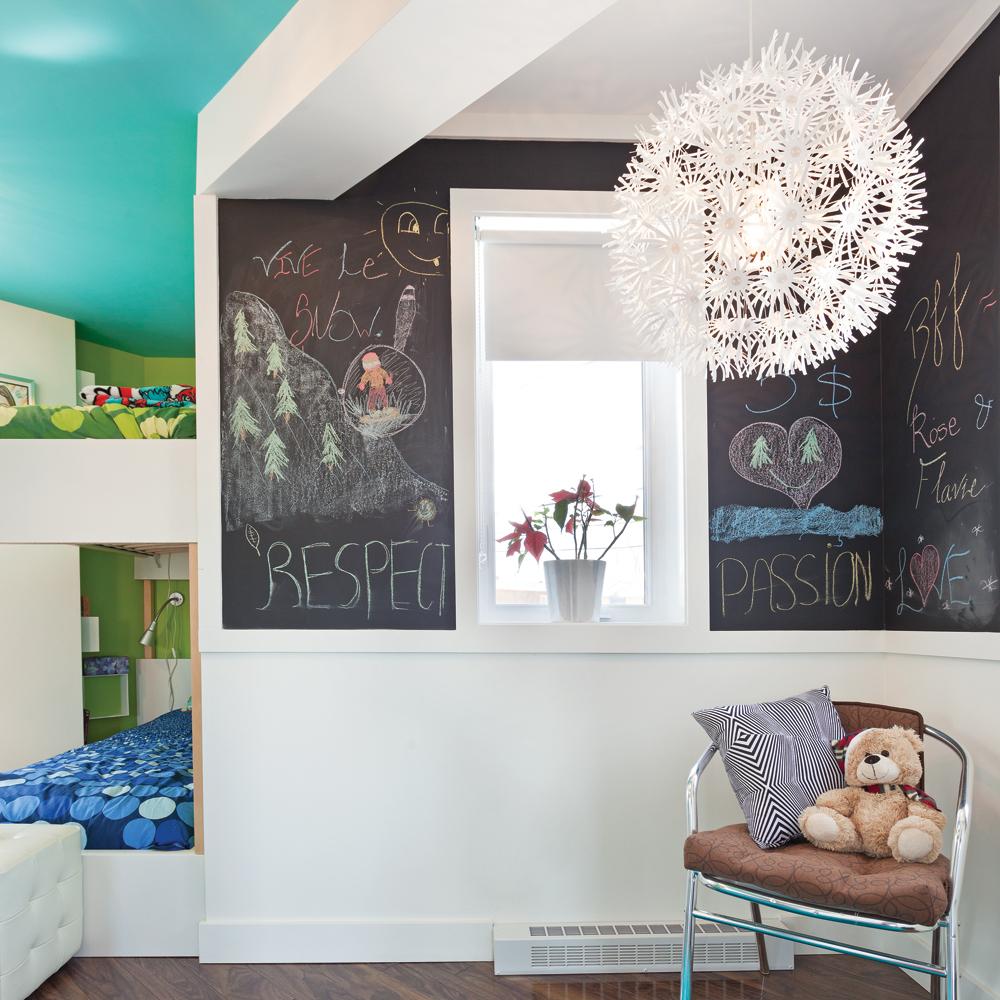 Peinture Noire À Effet Tableau Pour La Chambre D'enfant - Je destiné Tableau De Peinture Pour Enfant