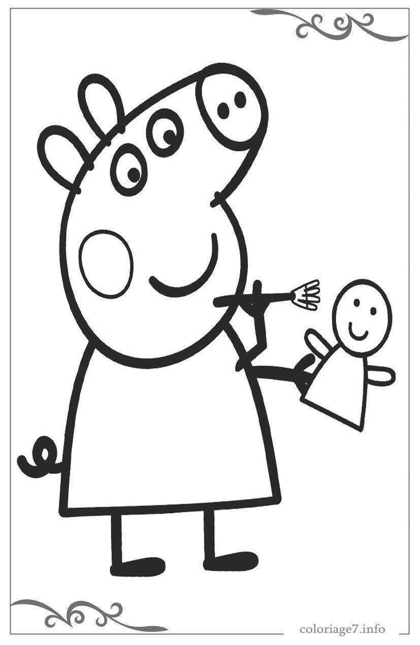 Peppa Pig Télécharger Et Imprimer Des Coloriages De Les Pour avec Jeux Petite Fille Gratuit