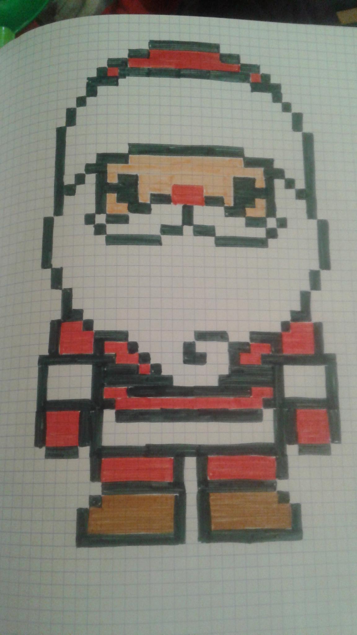 Père Noël encequiconcerne Pixel Art Pere Noel