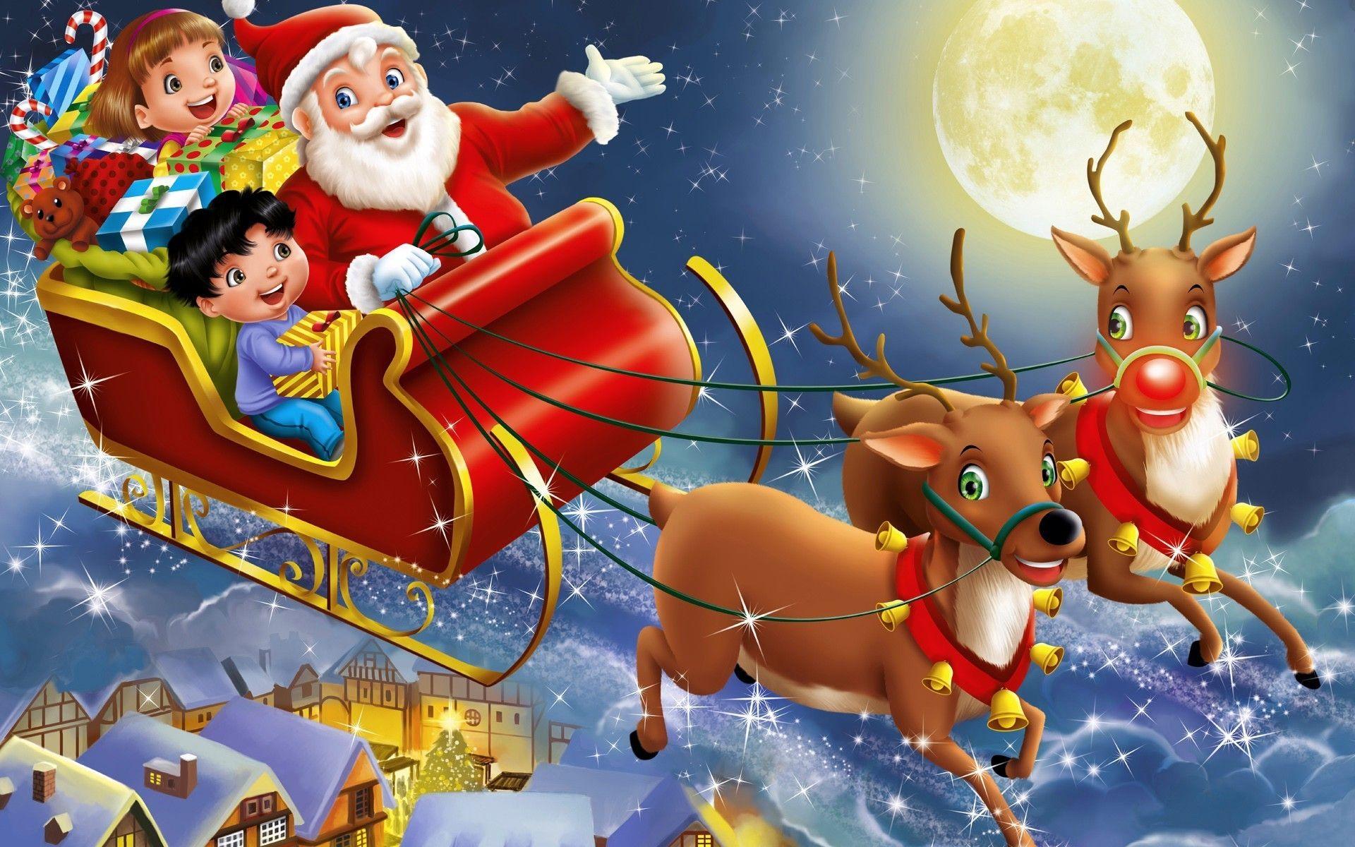 Père-Noël Et Son Traîneau pour Image Du Pere Noel Et Son Traineau