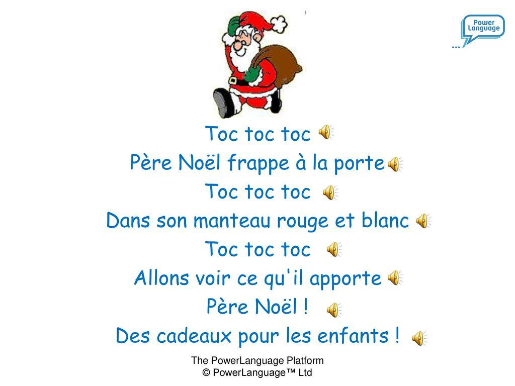 Père Noël Frappe À La Porte … - Ppt Télécharger dedans Chanson Dans Son Manteau Rouge Et Blanc
