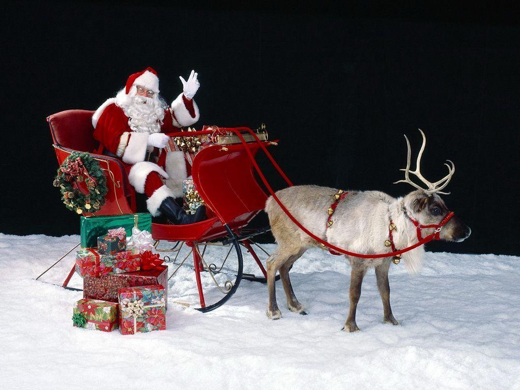 Père Noël Son Traineaux à Image Du Pere Noel Et Son Traineau