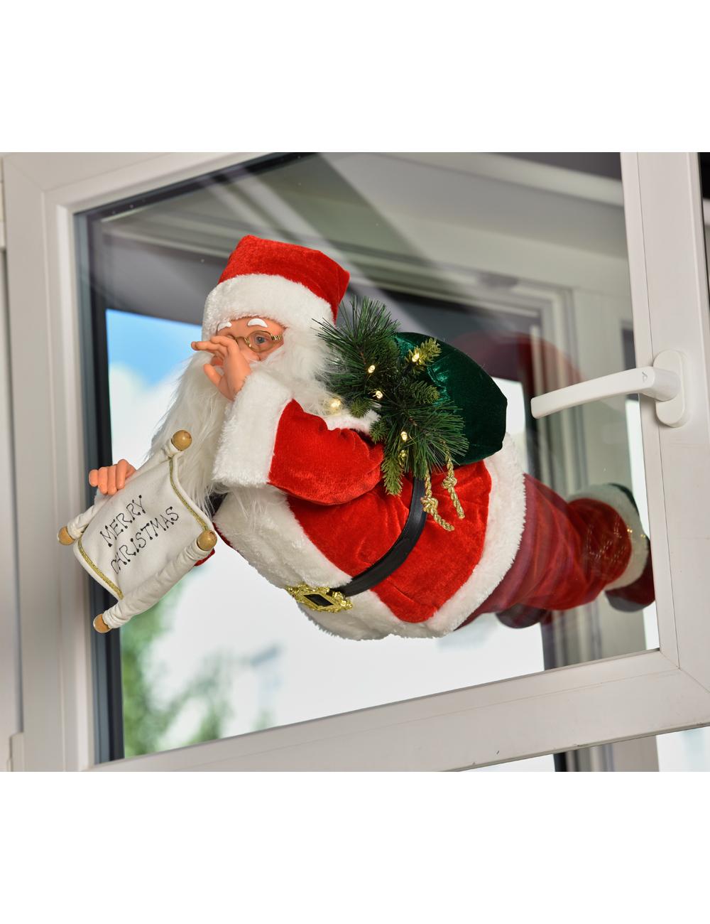 Père Noël Volant Avec Led Et Musique pour Musique Du Père Noël