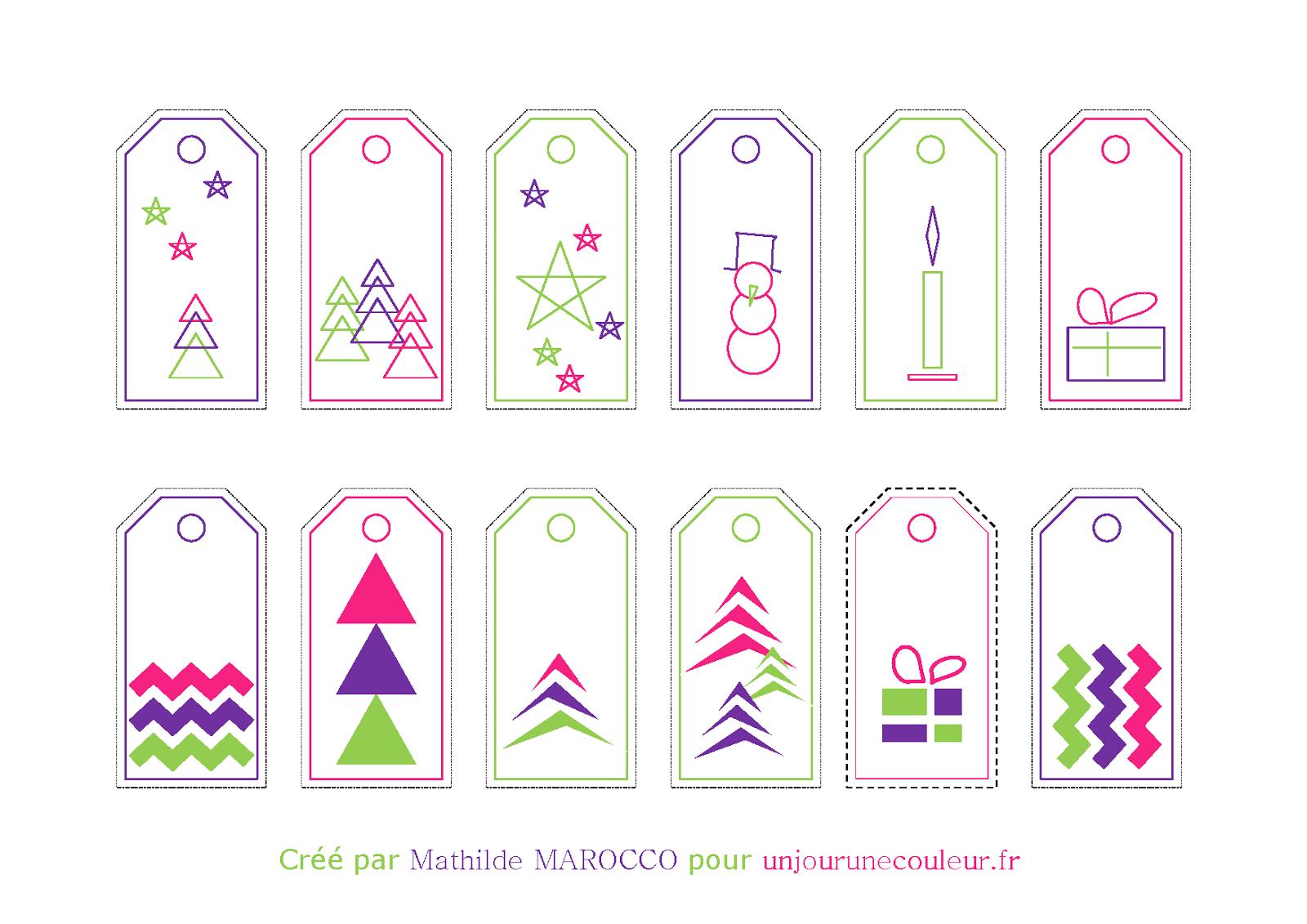 Petit Cadeau En Attendant Noël : Des Étiquettes Cadeaux tout Etiquette Noel A Imprimer
