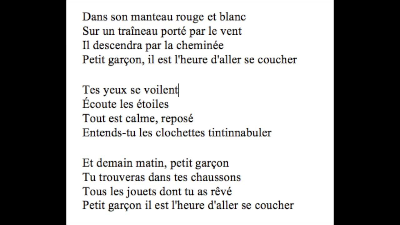 Petit Garcon Version Instrumentale Mp3 Télécharger pour Chanson Dans Son Manteau Rouge Et Blanc