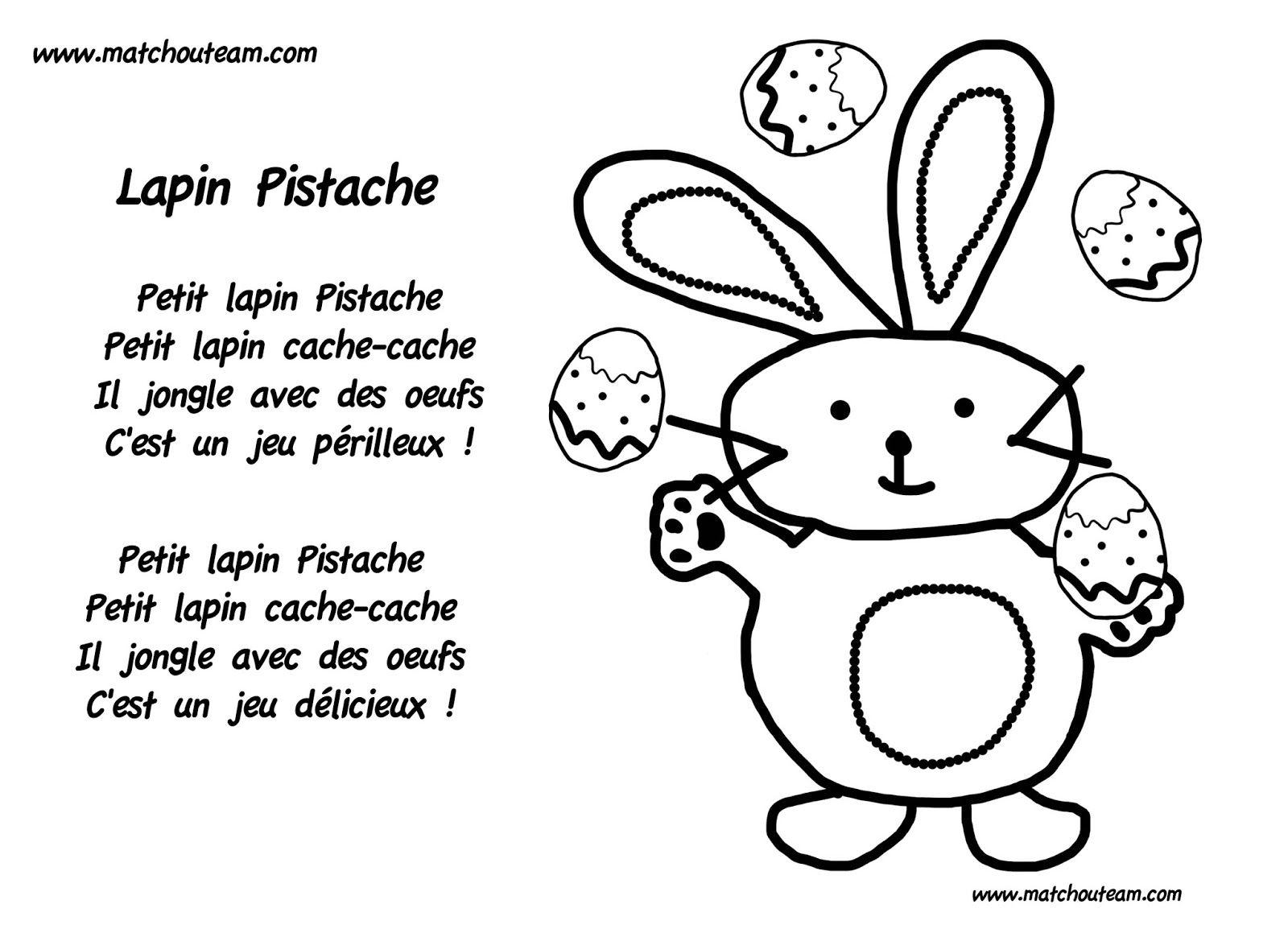 Petit Lapin Pistache, Comptine Pour Pâques   Easter à Chanson Enfant Lapin