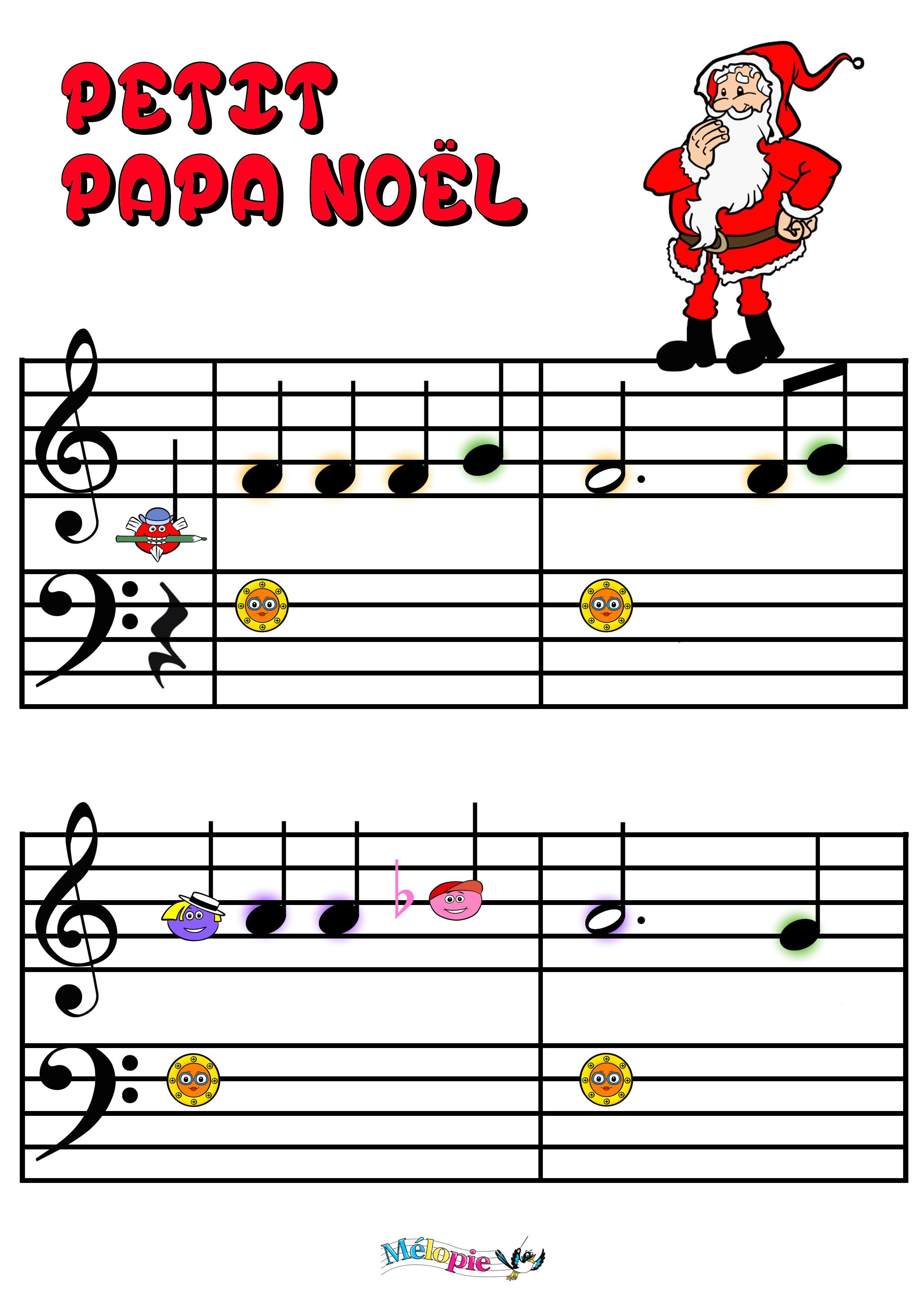 Petit Papa Noël, Partition, Activité, Conte Musical, Chanson avec Petit Papa Noel Video