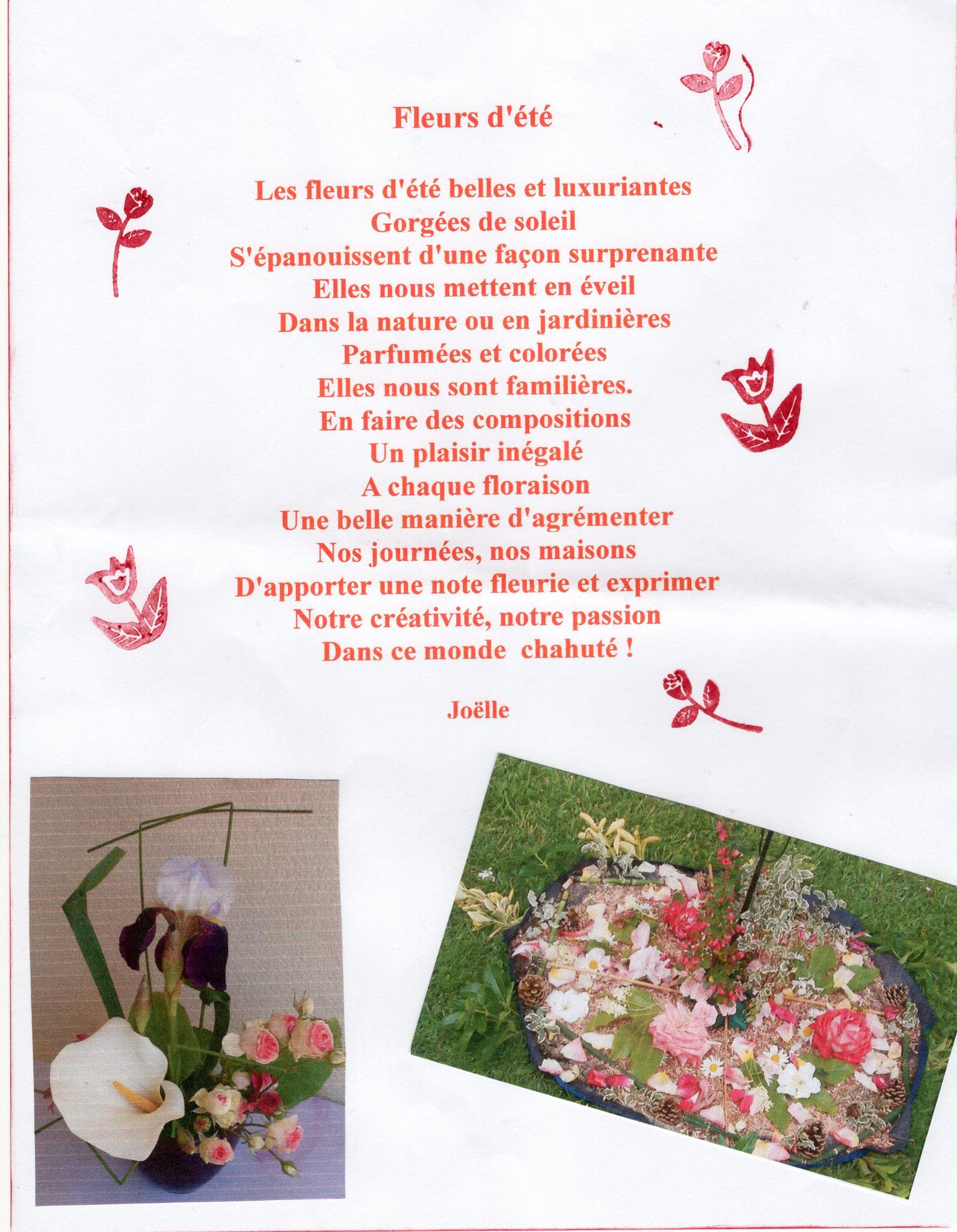 Petit Poème Aux Fleurs D'été - Le Café Fleurs De Joëlle concernant Poeme Les Fleurs